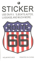 ROUTE US 66 flag sticker