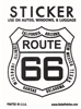 ROUTE 66 sticker with state names