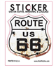 ROUTE US 66 bullet hole - rust sticker
