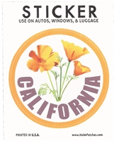 0450-CA-09 - CALIFORNIA Poppy sticker