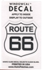 ROUTE 66 Windowcal Static Cling Decal