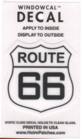 0466 - ROUTE 66 Windowcal Static Cling Decal