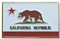 CALIFORNIA REPUBLIC flag hat pin