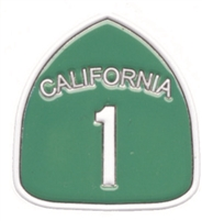"0475-1231 - CALIFORNIA 1 hat pin. .625"" wide x 15/16"" tall hat pin with rubber clasp. Individually poly bagged or bagged & carded for a store display rack (+$.10)."