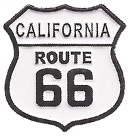 "0475-1236 - CALIFORNIA ROUTE 66 hat pin. .875"" tall x .875"" wide pin with plastic clasp. Individually poly bagged or bagged & carded for a display rack (+$.10)."