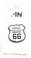 KANSAS ROUTE 66 hat pin.