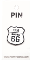 TEXAS ROUTE 66 hat pin.
