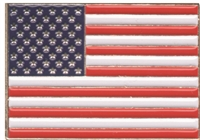 "US flag Soft enamel hat pin - .875"" tall x 1.25"" wide - Plastic clasp - Individually poly bagged or bagged & carded for a store display rack (+$.10)."