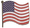 U.S. wavy flag hat pin