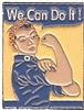 WE CAN DO IT hat pin