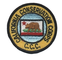 CALIFORNIA CONSERVATION CORPS souvenir embroidered patch