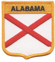 1005 - ALABAMA medium flag shield souvenir or uniform embroidered patch