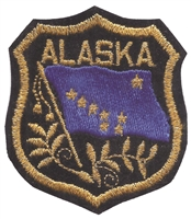 1062 - ALASKA mylar shield uniform or souvenir embroidered patch, AK
