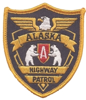 1090 - ALASKA HIGHWAY PATROL souvenir embroidered patch, AK