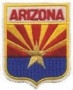 1101 - ARIZONA small flag shield uniform or souvenir embroidered patch, AZ, ARIZ