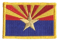 1104 - Arizona flag uniform or souvenir embroidered patch, AZ, ARIZ