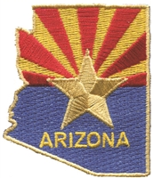 1120 - ARIZONA state shape souvenir or uniform embroidered patch - AZ - ARIZ