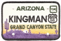 KINGMAN ARIZONA embroidered license plate patch.