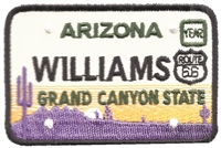 WILLIAMS embroidered license plate patch.