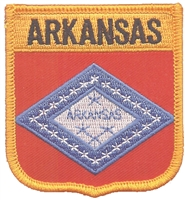 1155 - ARKANSAS medium flag shield uniform or souvenir embroidered patch