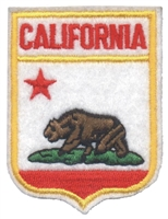 1201 - CALIFORNIA small flag shield uniform or souvenir embroidered patch