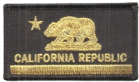 CALIFORNIA REPUBLIC flag embroidered patch