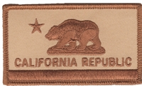1204-DESERT - CALIFORNIA REPUBLIC desert flag uniform or souvenir embroidered patch