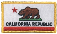 CALIFORNIA REPUBLIC flag uniform or souvenir embroidered patch