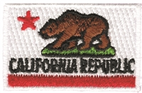 CALIFORNIA REPUBLIC embroidered flag