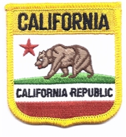 CALIFORNIA REPUBLIC medium flag shield uniform or souvenir embroidered patch