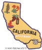 CALIFORNIA map souvenir embroidered patch