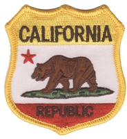 CALIFORNIA REPUBLIC shield uniform or souvenir embroidered patch