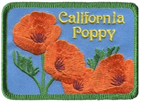 1209 - California Poppy souvenir embroidered patch