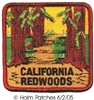 CALIFORNIA REDWOODS souvenir embroidered patch