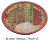 1219 - AVENUE OF THE GIANTS souvenir embroidered patch -  REDCREST - MYERS FLAT - PHILLIPSVILLE
