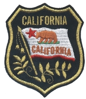 1222 - CALIFORNIA mylar shield uniform or souvenir embroidered patch
