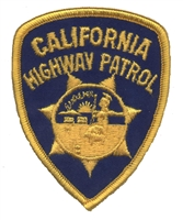 CALIFORNIA HIGHWAY PATROL souvenir embroidered patch