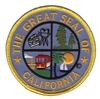1230 - CALIFORNIA novelty state seal souvenir embroidered patch