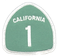 CALIFORNIA 1 souvenir embroidered patch