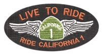 LIVE TO RIDE - RIDE CALIFORNIA 1 patch
