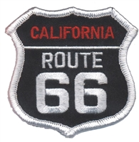 CALIFORNIA ROUTE 66 on black souvenir embroidered patch