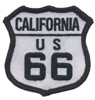 CALIFORNIA US 66 souvenir embroidered patch, route 66
