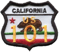 CALIFORNIA US 101 bear flag souvenir embroidered patch.