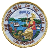 1239 - CALIFORNIA state seal uniform or souvenir embroidered patch