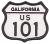 1241 - CALIFORNIA US 101 souvenir embroidered patch