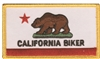 CALIFORNIA BIKER souvenir embroidered patch