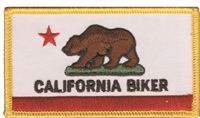 1244 - CALIFORNIA BIKER souvenir embroidered patch