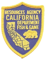 1250 - CALIFORNIA FISH & GAME souvenir embroidered patch