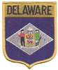 1352 - DELAWARE large flag shield embroidered patch for souvenir or uniform, DE