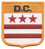 D.C.  (District of Columbia, DC) medium flag shield uniform or souvenir embroidered patch